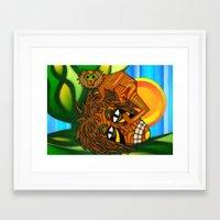 jojo Framed Art Prints featuring Congo JoJo by BohemianBound