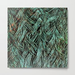 Tangled Up in Green Metal Print