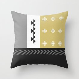 DREAM CATCHERS // Cave of gold Throw Pillow