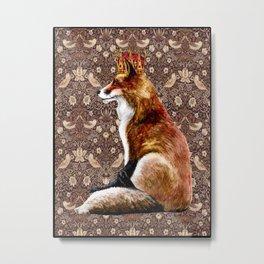 The Fox King - Strawberry Thief Metal Print
