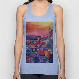 Sunset on Santorini Unisex Tank Top