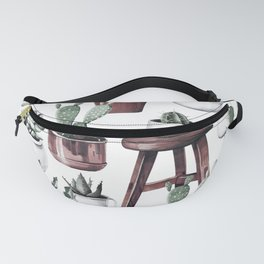 Happy Potted Cacti in Rose Gold Pots Fanny Pack