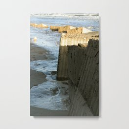 Ocean Defences Metal Print