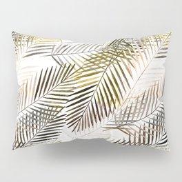 Fern's leaves on white background. Pillow Sham