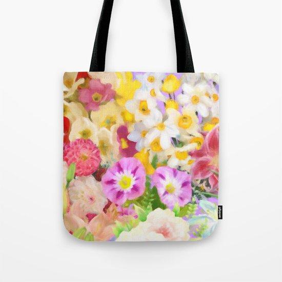 Flower Arrangement Tote Bag