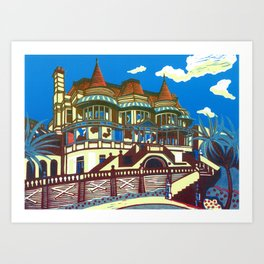 East Cliff Hall (Russell-Cotes Art Gallery & Museum) Art Print