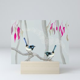 Blue Wren Australian Birds Mini Art Print