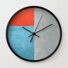 Tri Colour Texture Wall Clock