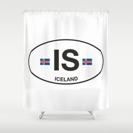 Iceland Country Code Shower Curtain