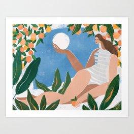 Indoor garden Art Print
