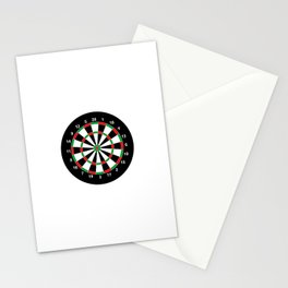 darts game board classic target  Stationery Cards
