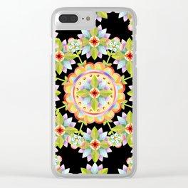 Starflower Mandala Blossoms Clear iPhone Case