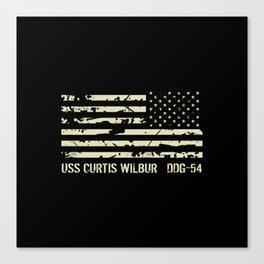 USS Curtis Wilbur Canvas Print