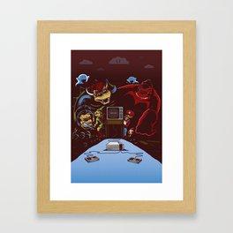 Press Start Framed Art Print