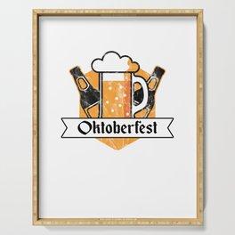 Cool Oktoberfest German Beer Festival Bier Drinkers Serving Tray