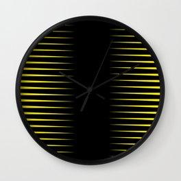 Yellow and black line background #society6 #decor #buyart #artprint Wall Clock