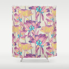 Tulips in Cotton Candy Shower Curtain