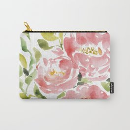 Dreamy Peony -  watercolor painting Carry-All Pouch