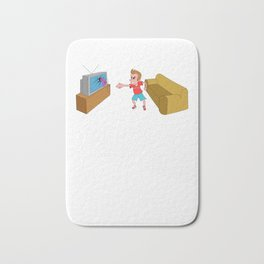 Angry Gamer Player Video Games Computer Console Bath Mat