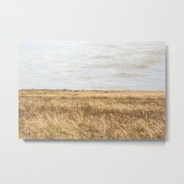 Grass Meets Seaweed Metal Print
