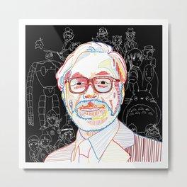 Studio Ghibli Miyazaki Metal Print