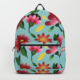 Flowers pattern by Azam Sadeghi Backpack