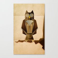 Owl riffic paper cutout vector jazz Canvas Print