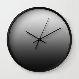 White to Black Horizontal Linear Gradient Wall Clock