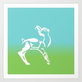 Spring is in the air deer Art Print