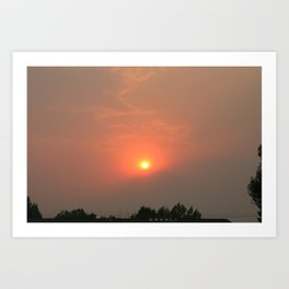 Fiery Sunset Art Print