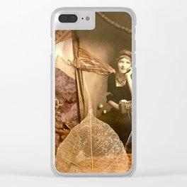 I Dream in  Black & White Clear iPhone Case