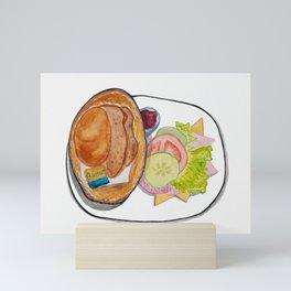 German Breakfast Mini Art Print