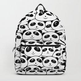 Panda Crowd Pandas Faces Cute Cartoon Pattern Backpack
