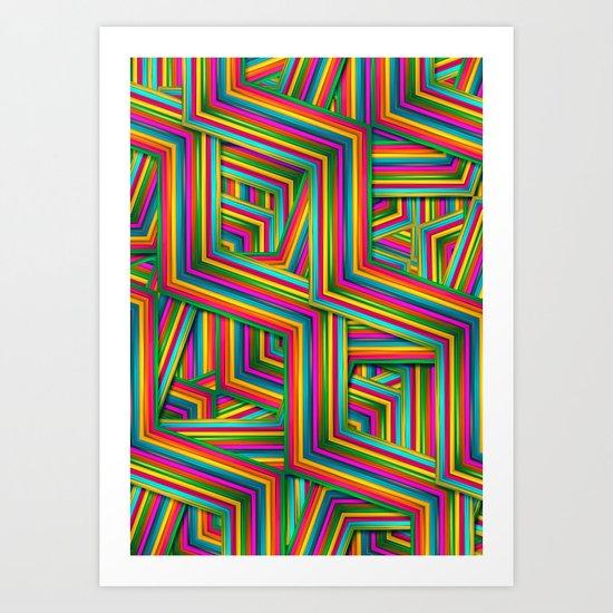 Therapist Pattern Art Print