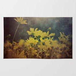 Abstract Yellow Daisies Rug