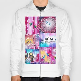 Pink collage Hoody