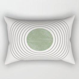 Fresh Pattern, Green Circle Rectangular Pillow