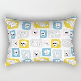 Human Skull and Skeleton Hand Pattern Rectangular Pillow