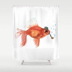 A gentleman's fish Shower Curtain