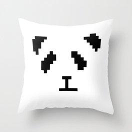 Pixel Panda Throw Pillow