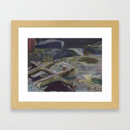 Falls Road Debris (Purple) Framed Art Print
