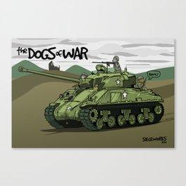 Dogs of War: Sherman Tank Canvas Print