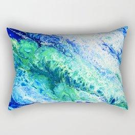 Tides  - Abstract fluid painting Rectangular Pillow