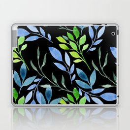 Blue and Green Leaves Laptop & iPad Skin
