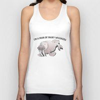 walrus Tank Tops featuring Walrus Whiskers by mailboxdisco