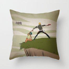 A Daring Escape Throw Pillow