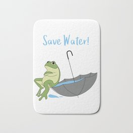 Saves Water for Frog Bath Mat