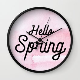 Hello Spring Wall Clock
