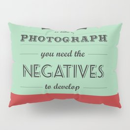 Lab No. 4 - Life Inspirational Quotes typography art poster Pillow Sham