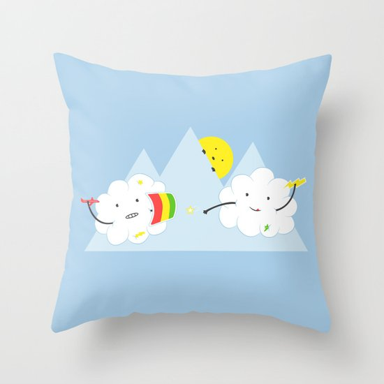 Cloud Fight Throw Pillow